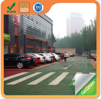 Ultra thin paving colored asphalt for road construction