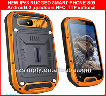 IP68 rugged android phone quad core manufacturer in china