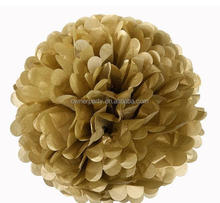 Hot Sale High Quality Beautiful Wholesale Gold Tissue Paper Pom Poms