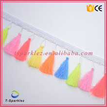 Newest Lace Fabric Sewing Accessories Pompom Trim Pom Pom Decoration Tassel Ball Fringe Ribbon DIY Material Apparel