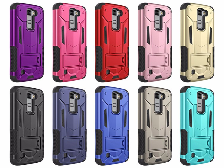 alibaba top seller bumper phone case 3 in 1 super shield phone case for lg k7
