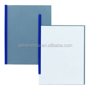 Professional custom logo printed A4 size colored sliding bar file folder transparent report cover