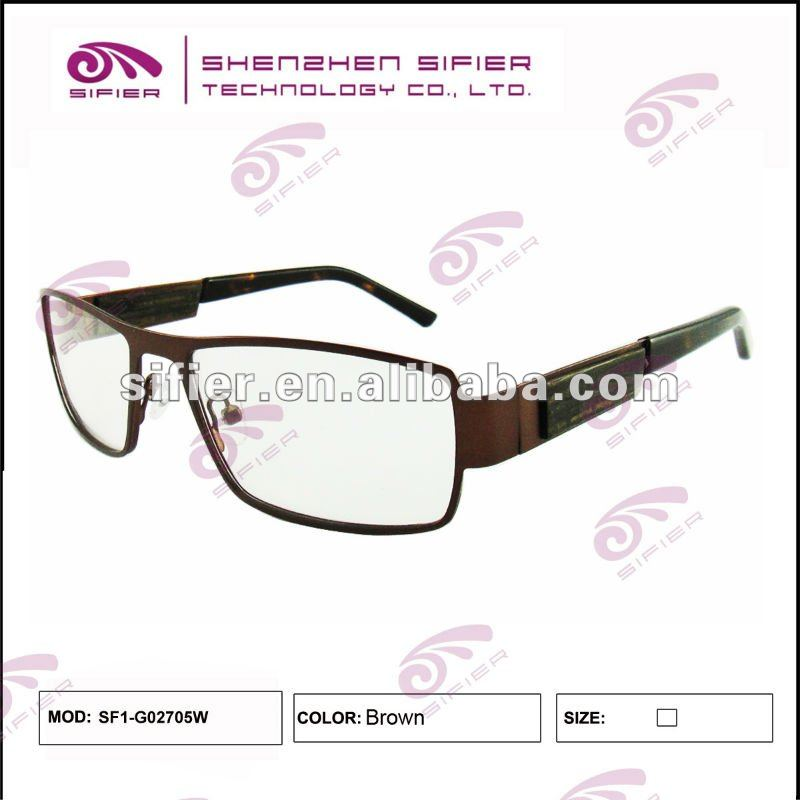 High Quality Metal Frame Men Wood Reading Glasses