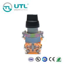 UTL The Latest Inventions Of China Self-Locking Short Handle Turn Push Button Switch