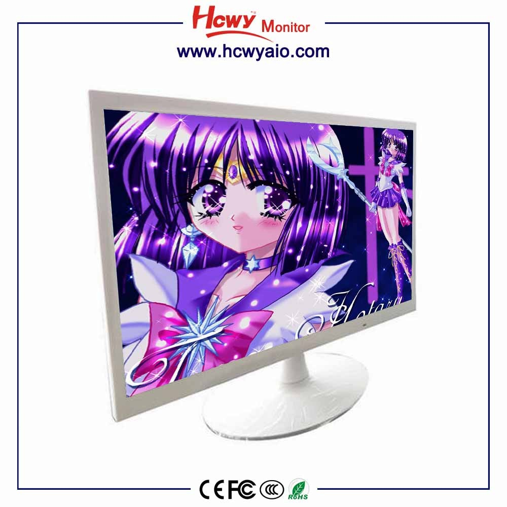 industrial lcd monitor white color 21.5inch vga lcd monitor OEM 21.5 inch 16:9 led lcd monito