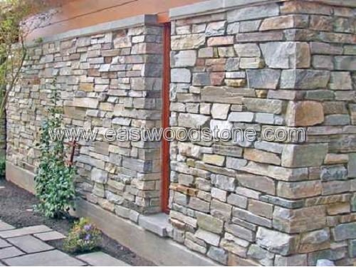 old stone wall panel stack stone