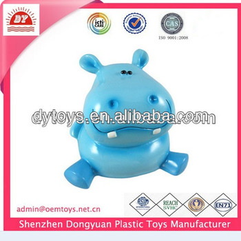 rubber hippo piggy bank,hot sale coin bank ,pvc piggy bank