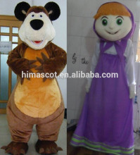 HI promotion custom plush cartoon masha and the bear mascot costumes