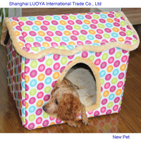 Special customized competitive price m size dog cat lounge house sweet pink teddy dog soft house