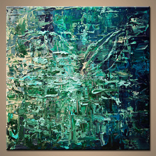 Large Embossed Canvas Abstract Painting Art