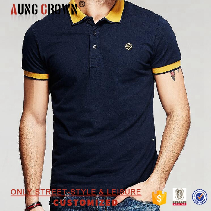 High Quality Polo Neck Plain Customized Cotton T shirt Polo
