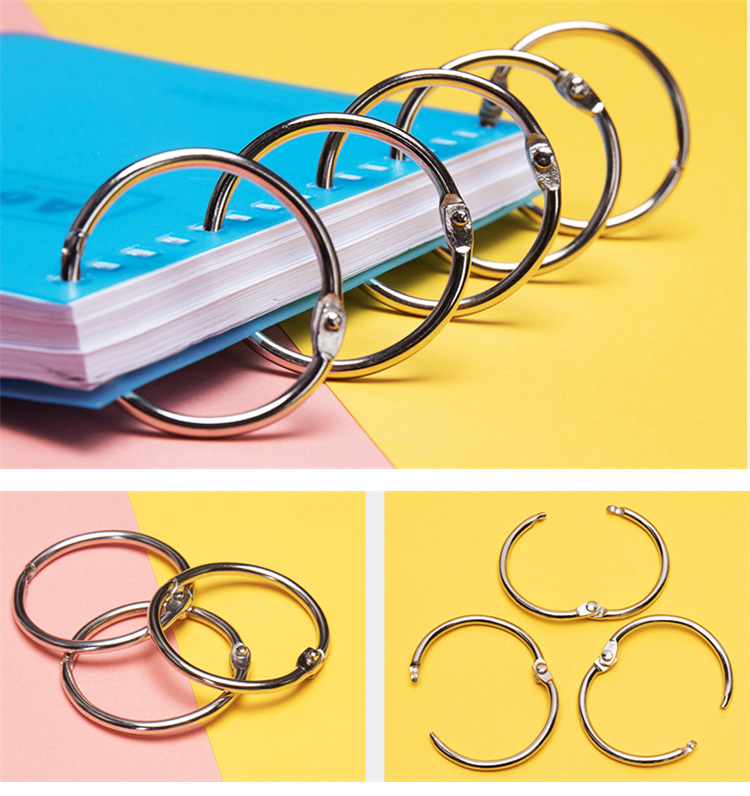 all size can do metal loose leaf book binding ring