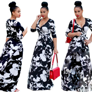 MC5317 Low price hot selling black long sleeve bodycon maxi dress elegant dress for ladies