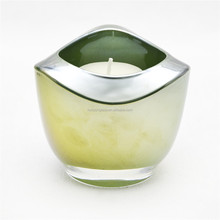 Colorful extra thick glass candle holder carnival glass votive candle holder for home table top decoration