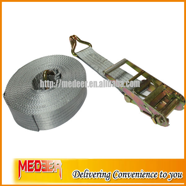 100mm Wide 10 Ton Breaking Strength Grey 4 Inch Heavy Duty Ratchet Tie Down Straps