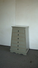 grey color antique wooden filing cabinet