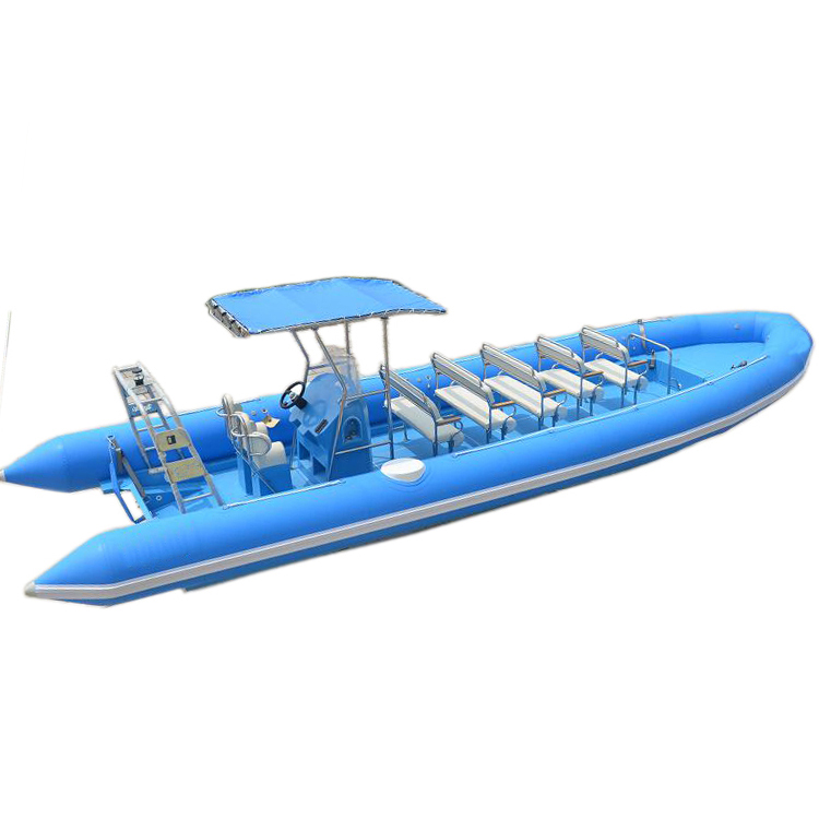Ce Wholesale Hypalon Rib 960 <strong>Boat</strong> 17 persons And Rigid Inflatable <strong>Boat</strong> With Outboard Motor
