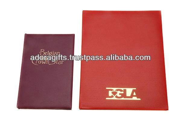 Hot Selling Leather Car Certificate & Insurance Holder/A4 Diploma Leather Certificate Holder