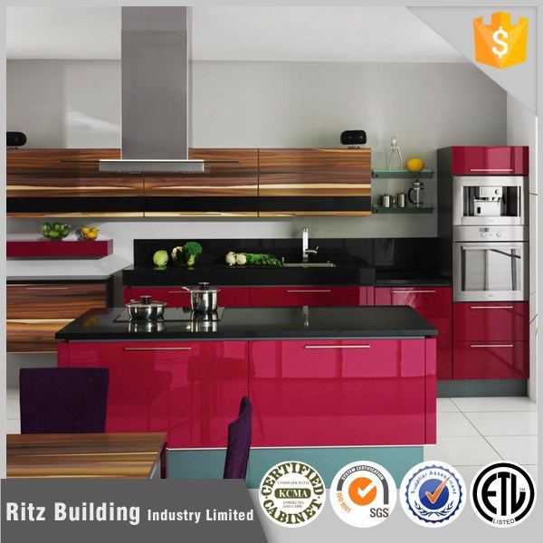 Good price affordable lacquer kitchen cabinet foshan kitchen furniture