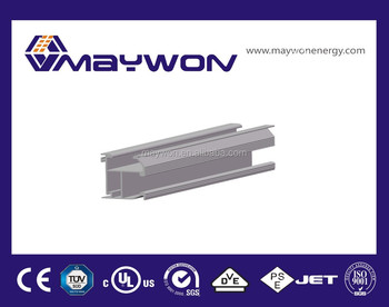 aluminum rail brackets solar panel roof mounting