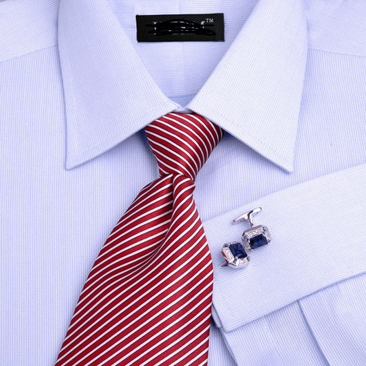 Cotton light blue french cuff formal shirt for men