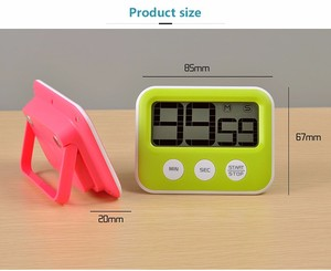 LCD electronic digital kitchen timer with magnet for cooking