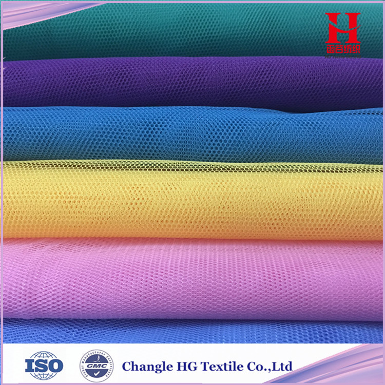 100% Polyester Hexagonal Mesh Fabric for Mosquito Net