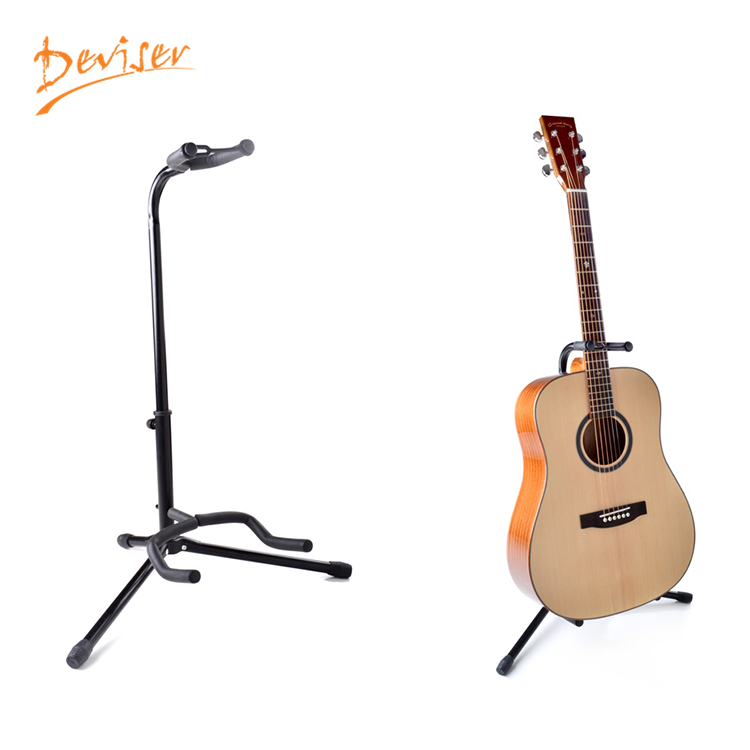 High quality metal guitar folding stand for acoustic guitar