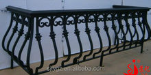 Antique & durable wrought iron balcony railing iron balcony fence designs