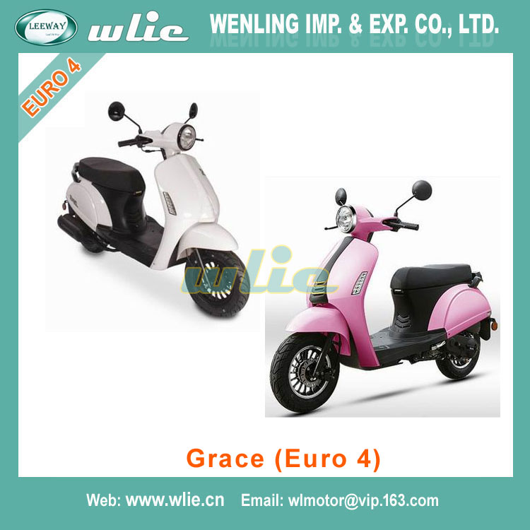 New hot selling products eec euro 4 scooter certification epa Motor Scooter Gas Moped Grace 50cc (EEC Euro 4)