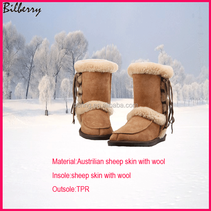 2016 new style fashion snow boots ladies snow boots winter snow boots in china
