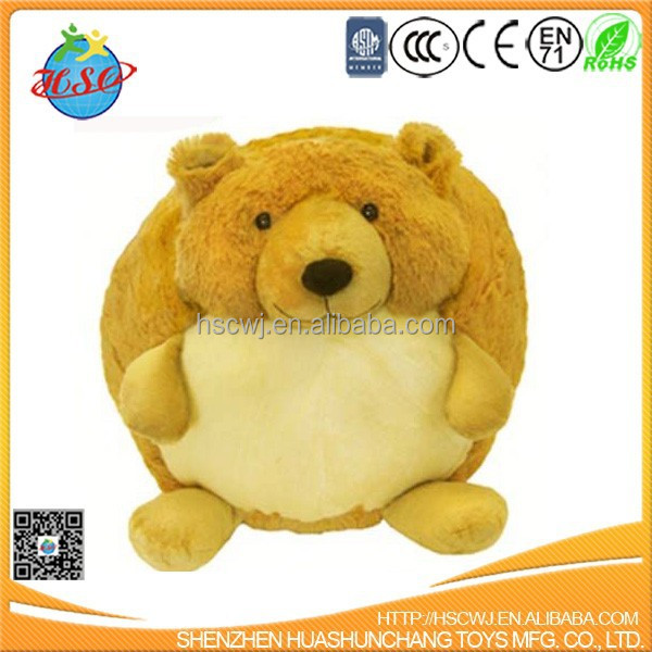 plush stuffed ball shape bear toy