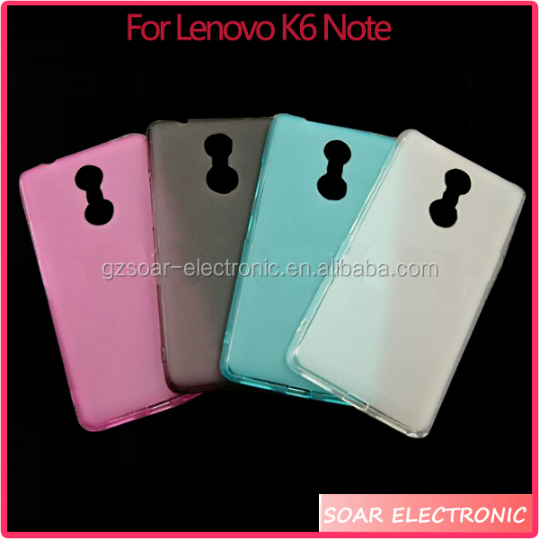 Clear tpu back cover case for Lenovo K6 Note mobile phone soft cover for Lenovo K6 Note case