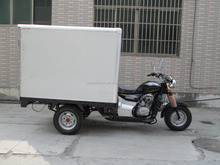 Big Power Motorized 3 Wheel Cargo Tricycle With Cloesd Box Motorcycle On Sale