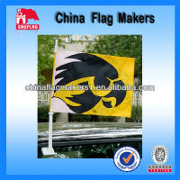 100% Polyester Silk Screen Printing Custom Car Window Flags