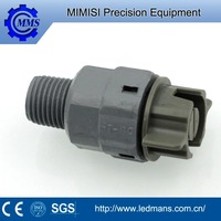 MMS pvc uick release full cone jet water spray nozzle for surface treatment nozzle