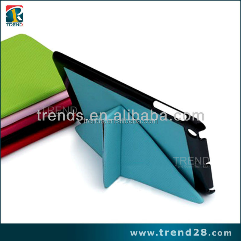 portable folding leather flip case for ipad mini tablet