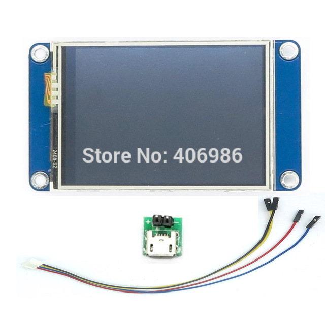 "English Version Nextion 2.4"" TFT 320 x 240 Touch Screen UART HMI Smart raspberry pi LCD Module Display for TFT"