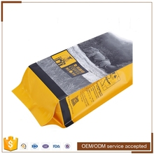 Gold Al Elegant feel Ziplock Small size packaging bags for milk powder/coffee powder and others
