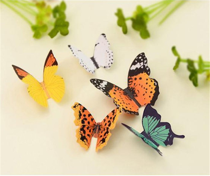 Safe and nice packing butterfly 3d wall sticker, pvc wall sticker
