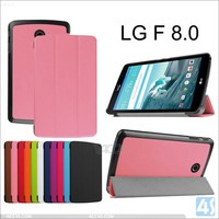 New factory good quality super slim Tri-folding leather case cover for LG G PAD F 8.0 protective skin