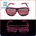 Hot sales bright el wire sunglasses with flashlight in good package with long life time wholesale