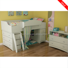 Kids furniture Imagine Twin Wood Loft Bed Set in Morgan Cherry & in Morgan Cherry