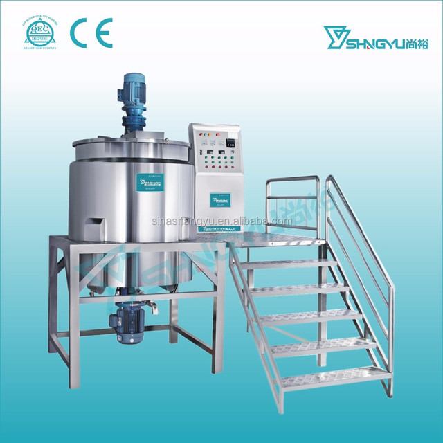 Alibaba China shangyu factory homogenizing emulsifying cosmetic chemical mixer machine