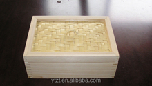 high quality 50cm big size bamboo square steamer for household or breakfast shop with FSC certified