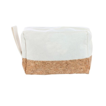 Trend eco-friendly canvas cork pouch bags glitter cork cosmetic bags