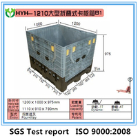 inner size:1110*910*790mm plastic pallet box/container, 1-4Tons