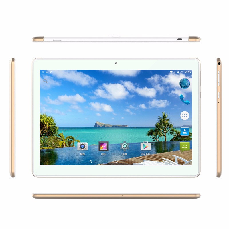 Tablet 10.1 inch 1920*1200 IPS 3G 4G lte Octa Core MT6753 32GB ROM 2MP+5MP Android 6.0 GPS Bluetooth Wifi Dual SIM Metal Case