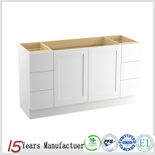 Modern Solid Wood Small White Vanity Cabinet Units For Bathroom