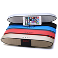 Mobile Phone Stand Wireless Speaker Supports USB Disk TF Card Home Theater Multimedia Computer Audio Sound Bar With LED Clock